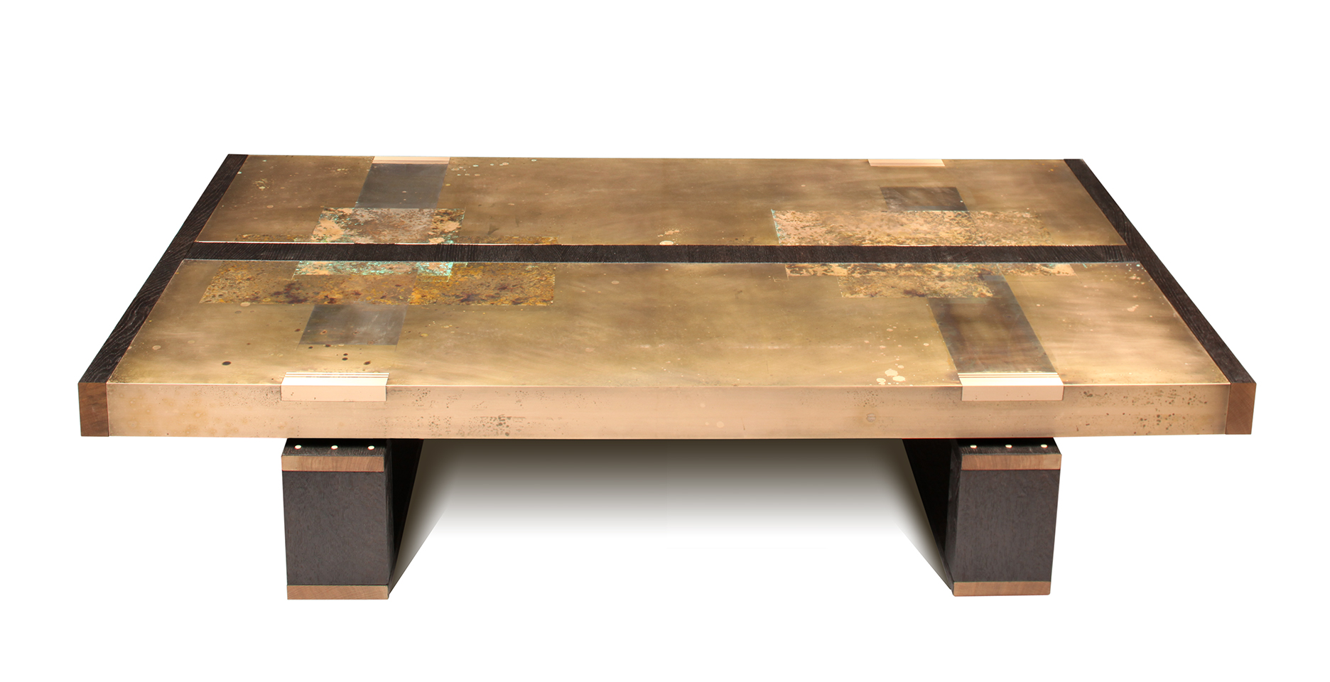 Artistic bronze coffee table