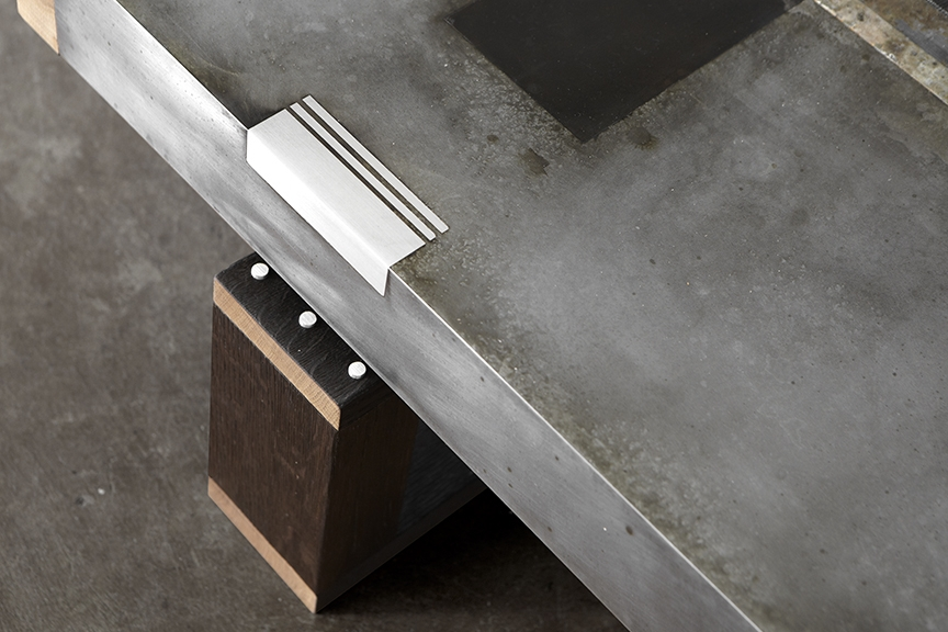 This Studio Roeper Original Features An Acid Etched Zinc Top In Our  Signature Patina Style. The Industrial Character Of The Metal Is  Complemented By The ...