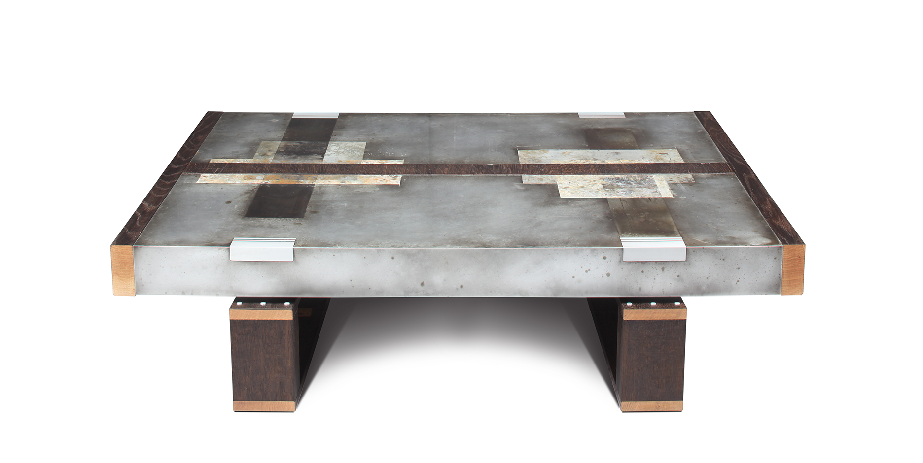 Etched Zinc Coffee Table