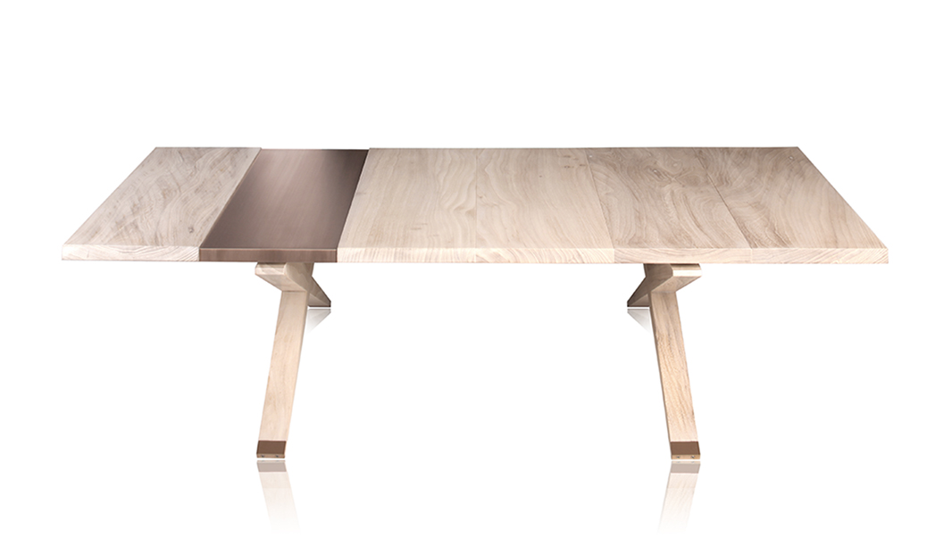 Light colored wood coffee table